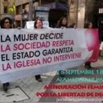 Manifestation au Chili pour le droit à l'avortement libre et gratuit. Le récent exemple de l'Espagne montre que les droits démocratiques ne sont jamais complètement acquis sous le capitalisme, il faut les défendre sans cesse. ,