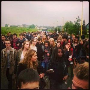rouen lycéens contre FN 27mars2014
