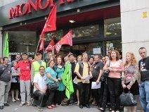 Une syndicaliste de Monoprix réintégrée