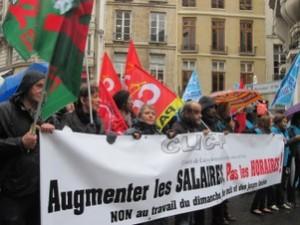 Manifestation des salariés du commerce parisien. Un succès !