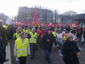 Succès de la journée d'action des entreprises en lutte en Seine maritime