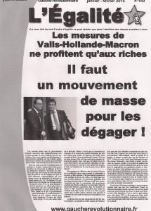 Egalité Janvier-Février           Abonnez-vous!