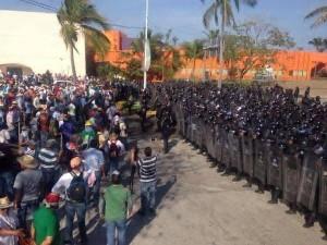 Répression contre les enseignants dans l'État de Guerrero