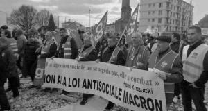 Manifestation départementale à Rouen contre les licenciements le 17 février dernier