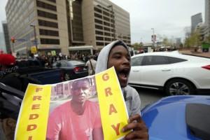 Manifestation après la mort de freddie gray