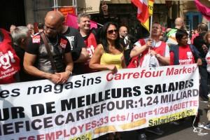Rassemblement devant le siège de Carrefour France jeudi 28 mai