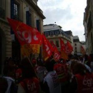 Rassemblement des salariés de Casino devant l'AG des actionnaires