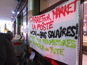 rassemblement postiers et carrefour market 3