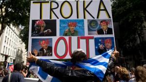 Manifestations contre les menaces de la Troïka et en soutien aux travailleurs grecs jeudi 2 juillet. Pour la victoire du «NON»
