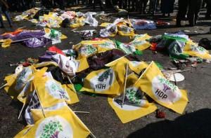L'attentat à Ankara le 10 octobre a tué au moins 128 militants de gauche et syndicalistes