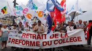 Manifestation pour le retrait de la réforme du collège