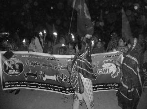 Action menée par la section pakistanaise du CIO/CWI, le Socialist Movement Pakistan, en décembre dernier, dans la ville de Mir Pur Khas dans la région du Sindh. Plus de 400 personnes se sont rassemblées contre l'extrêmisme religieux et la hausse de l'intolérance