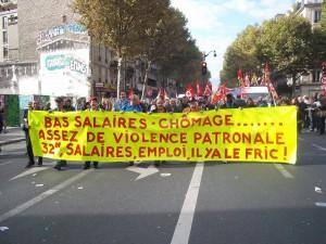 Manifestation du 8 octobre 2015 à Paris, pour l'emploi et les salaires