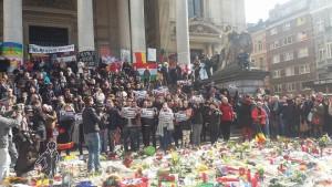 hommage aux victimes des attentats à bruxelles