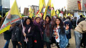Manifestation pro-kurde à Bruxelles. Photo: Liesbeth