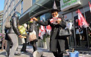 Manifestation pour Halloween à Clichy