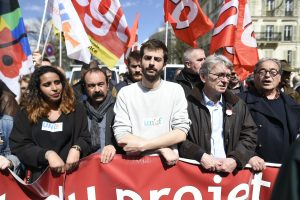 Samia-Moktar-UNL-Philippe-Martinez-CGT-William-Martinet-UNEF-Jean-Claude-Mailly-FO-lors-manifestation-contre-travail-5-avril-2016-Paris_4_1400_931