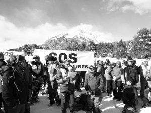 Cordée solidaire dans les Alpes, décembre 2017