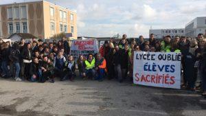 Grève au lycée Jan Lavezzari de Berck en 2017