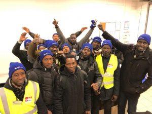 Travailleurs sans papiers en grève chez Defi technology