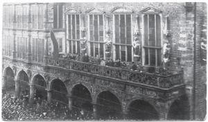 Proclamation de la République des Conseils à la mairie de Brême, le 15 novembre 1918