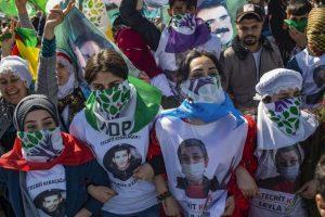Manifestation en soutien aux candidats HDP à Istanbul le 24 mars 2019 (AFP)