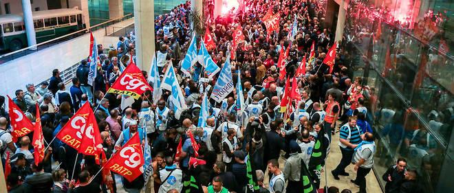 Manifestation des travailleurs-ses de la Ratp le 13 septembre à Paris