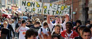 Manifestation des lycéens contre la réforme des retraites en 2010