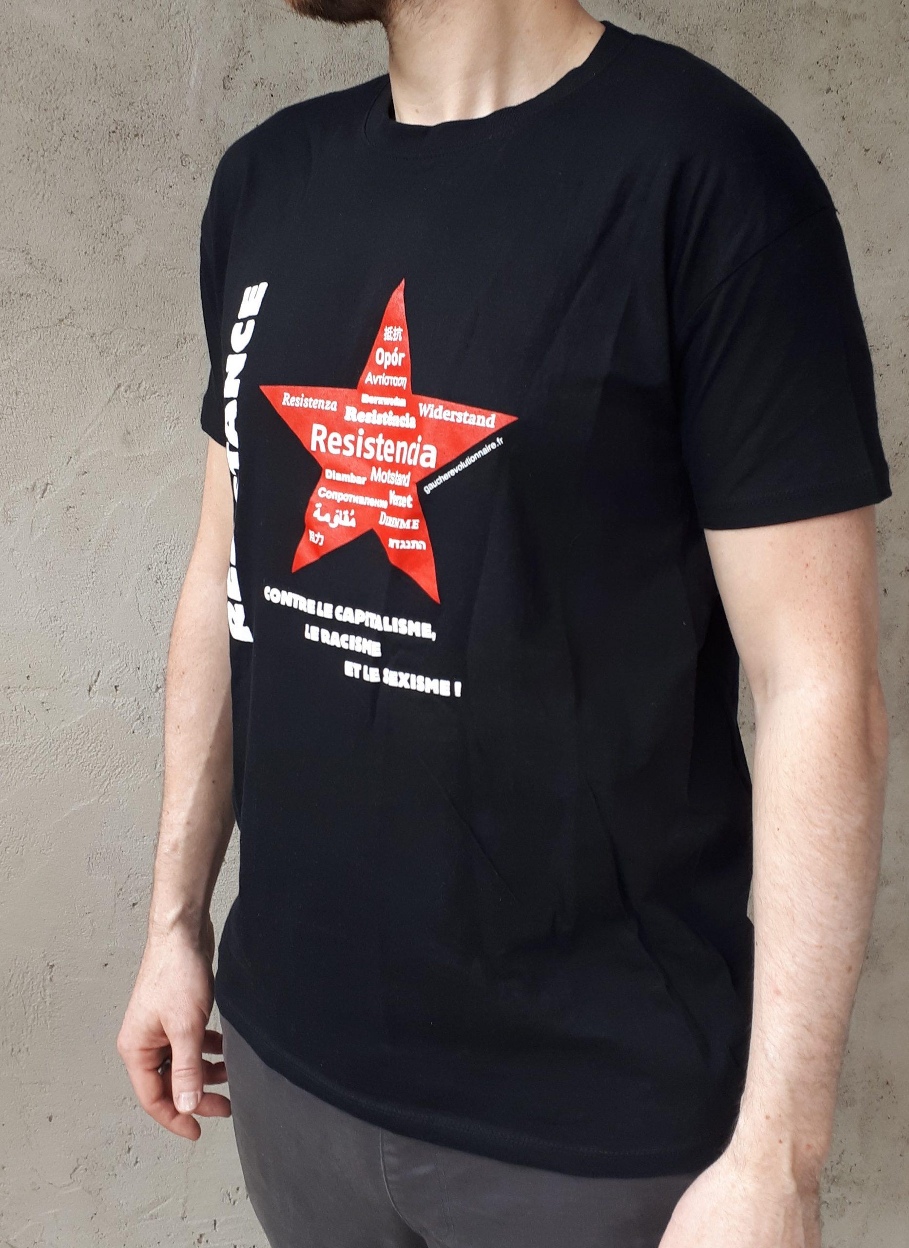 Weiswehr T-shirt coton-Poing//résistance aucun esclave pour le système